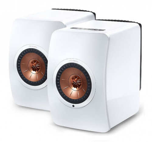 KEF LS50W Wireless Active Bookshelf Speakers - White