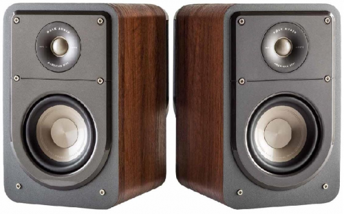 Polk Audio Signature S15 Compact Bookshelf Speakers - Brown