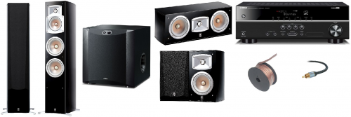 Yamaha HTR-2071 and NS-555 5.1 Home Theatre Package